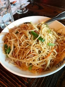 Vegetarian Hakka Noodles - UM HELLO! Get you some ASAP. Mix it up with the Lat Mai Kai or the Chili Mustard Paneer (pictured next) and you'll be set!